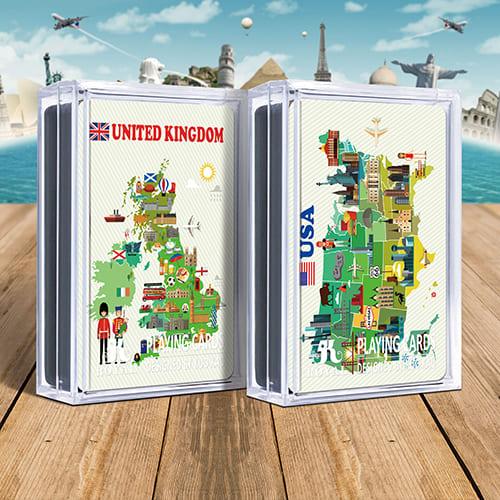 地圖撲克牌